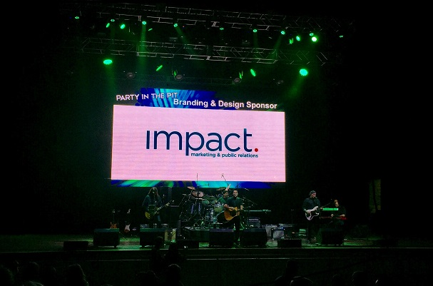 IMPACT Logo Branding Party in the Pit