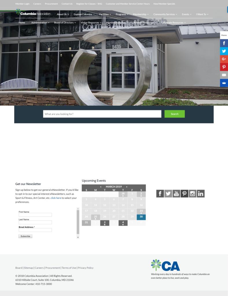 Columbia Association before website photo
